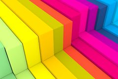 Colorful abstract background with cube. 3D illustration vector illustration