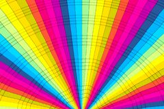 Colorful abstract background with cube distortion. 3D illustration royalty free illustration