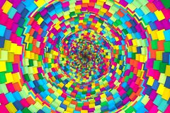 Colorful abstract background with cube and tube. 3D illustration vector illustration