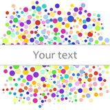 Colorful abstract background of colorful dots, circles with place for your text. Vector illustration for bright design. Modern pattern decoration. Color Stock Image