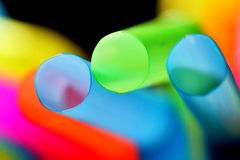 Colorful abstract background with a drinking straws Stock Photography