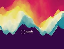 Colorful abstract background. Dynamic effect. Futuristic technology style. Motion vector illustration Royalty Free Illustration