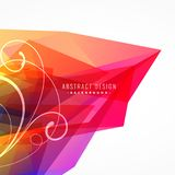 Colorful abstract background with floral element Stock Photography