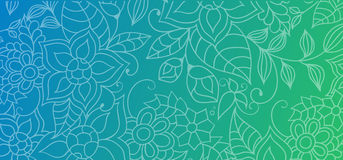 Colorful abstract background with floral ornaments, flowers and leaves for website, banners or identity. Royalty Free Stock Photography