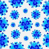 Colorful abstract background flowers blue pattern Royalty Free Stock Photo