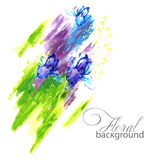 Colorful abstract background.flowers and paint.vector illustration Stock Photo