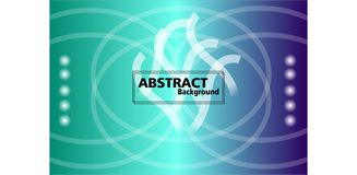 Colorful Abstract Background. flowing and dynamic shape background royalty free illustration