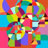 Colorful abstract background with geometric shapes.  Stock Illustration