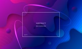 Colorful abstract background with geometric shapes. royalty free illustration
