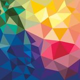 Colorful abstract background with geometric shapes. Vector abstract background with geometric shapes. Colorful triangles Stock Photography