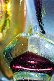 Colorful abstract background. Glass drops water. Royalty Free Stock Images
