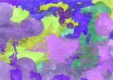 Colorful abstract background of gouache paint. Abstract background, hand-painted gouache, paint strokes. Design for backgrounds, wallpapers, covers, packaging stock illustration