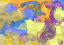Colorful abstract background of gouache paint. Abstract background, hand-painted gouache, paint strokes. Design for backgrounds, wallpapers, covers, packaging royalty free illustration