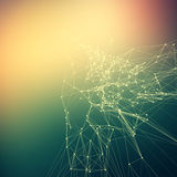 Colorful abstract background gradient. Connecting dots with line. S, grid royalty free illustration