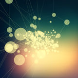 Colorful abstract background gradient. Connecting dots with line Stock Photos