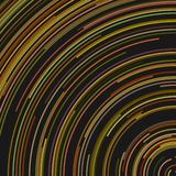Colorful abstract background graphic from concentric curved lines. Colorful abstract circular background graphic from concentric curved lines stock illustration