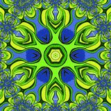 Colorful abstract background. The green flower. royalty free illustration
