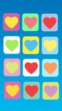 Colorful abstract background heart. Colorful abstract heart romantic Valentines day background stock illustration