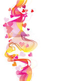 Colorful abstract background with hearts Royalty Free Stock Photography