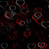 Colorful abstract background with hearts. And place for text stock illustration