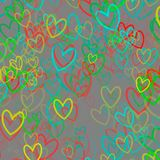 Colorful abstract background with hearts. And place for text Royalty Free Stock Photos