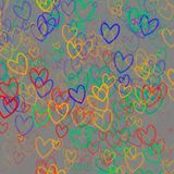 Colorful abstract background with hearts. And place for text Vector Illustration