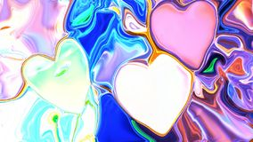 Colorful abstract background hearts space, universe Stock Photos