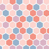 Colorful abstract background with hexagons Royalty Free Stock Photos