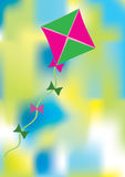 Colorful abstract background with kite. Colorful abstract background with pink and green kite vector illustration