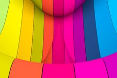 Colorful abstract background with line wave distortion. 3d illustration royalty free illustration