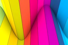 Colorful abstract background with line wave distortion. 3d illustration stock illustration