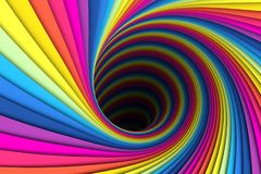 Colorful abstract background lines black hole. 3d illustration3 Royalty Free Stock Photo