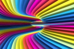 Colorful abstract background lines warp. 3d illustration Royalty Free Stock Photography