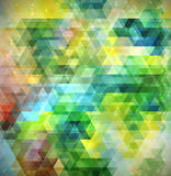 Colorful abstract background made of triangle elements. Vector bright colorful abstract background made of triangle elements Stock Images