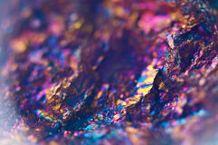 Colorful Abstract background from natural mineral. Macro Stock Images