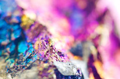 Colorful Abstract background from natural mineral. Macro Stock Image