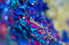 Colorful Abstract background from natural mineral. Macro Royalty Free Stock Photos