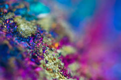 Colorful Abstract background from natural mineral. Macro Stock Photography