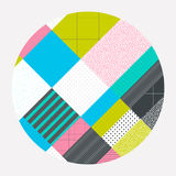 Colorful Abstract Background. Neo Memphis style Colorful Background Decorative Wallpaper with Bold Editable Simple Block in Bright Color stock illustration