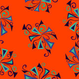 Colorful abstract background orange pattern Royalty Free Stock Photos
