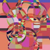 Colorful abstract background with a pattern of geometric shapes.  Royalty Free Stock Photography