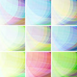 Colorful Abstract Background. Set of pastel colorful wavy abstract backgrounds royalty free illustration