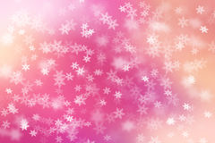 Colorful abstract background with snow flakes falling. Stock Photos