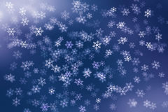 Colorful abstract background with snow flakes falling Stock Photo