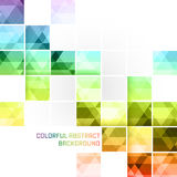 Colorful abstract  background. Square mosaic pattern. Colorful abstract background with square mosaic pattern. Vector illustration Royalty Free Stock Photo