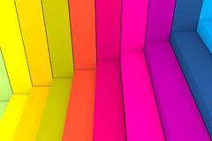 Colorful abstract background stairs box. 3d illustration royalty free illustration