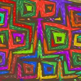 Colorful Abstract Textile Art Stock Image