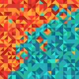 Colorful abstract background with triangle pattern Stock Photos