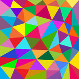 Colorful abstract background of triangles Royalty Free Stock Images