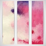 Colorful Abstract Background With Triangles Stock Images